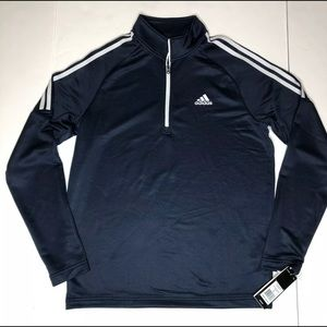 Adidas Golf French Terry 1/4 Zip Black Pullover